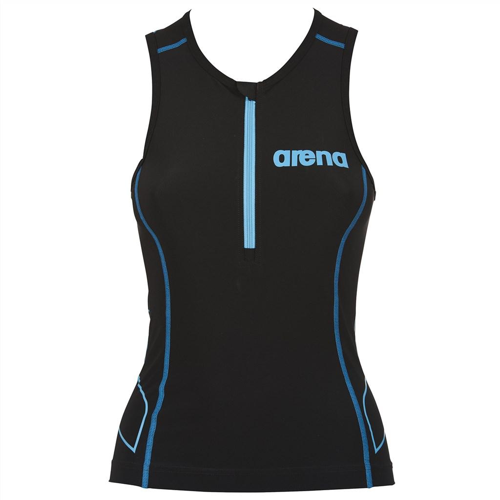 Arena - W Tri Top ST - black/turquoise