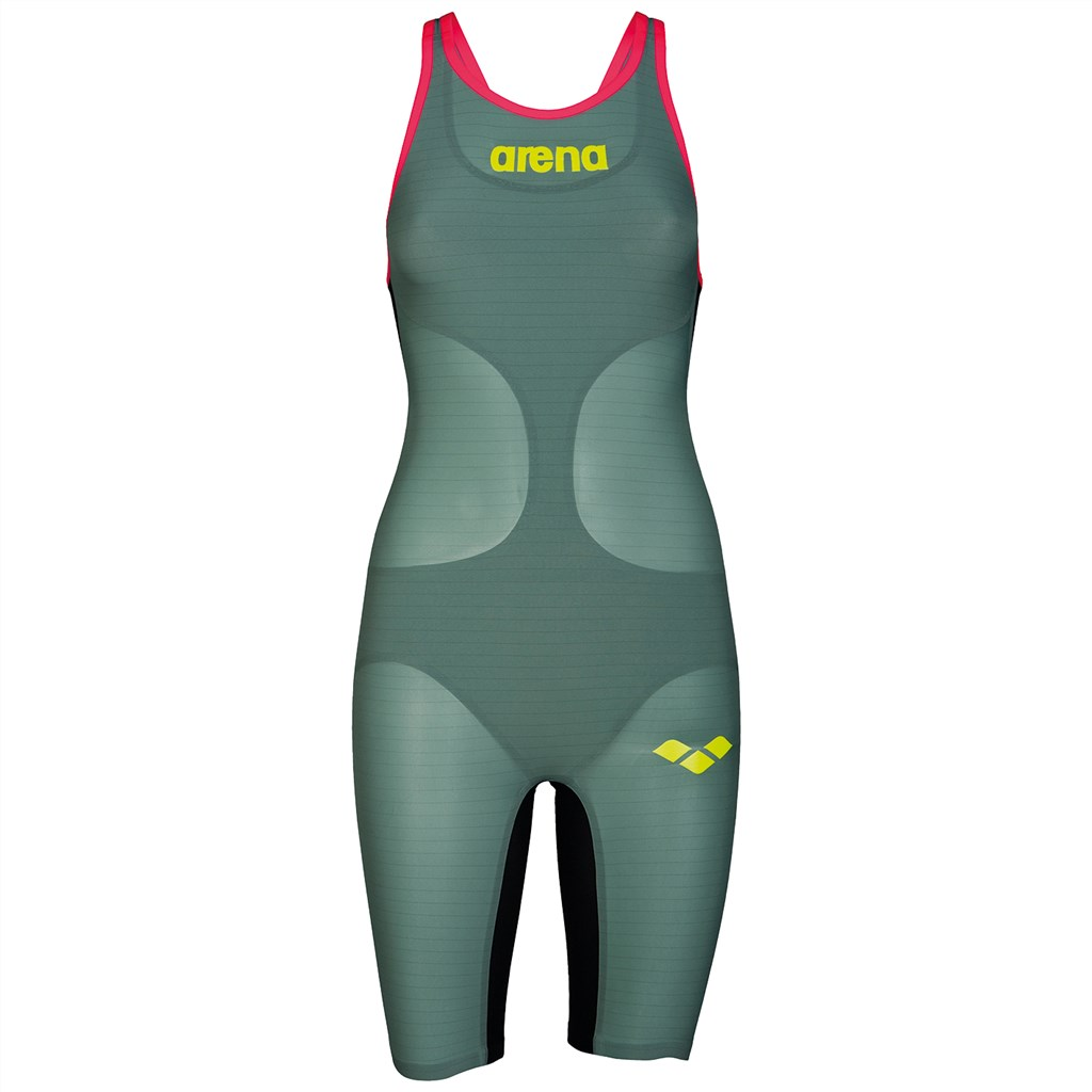 Arena - W Carbon Air FBSL Close - dark green/fluo red