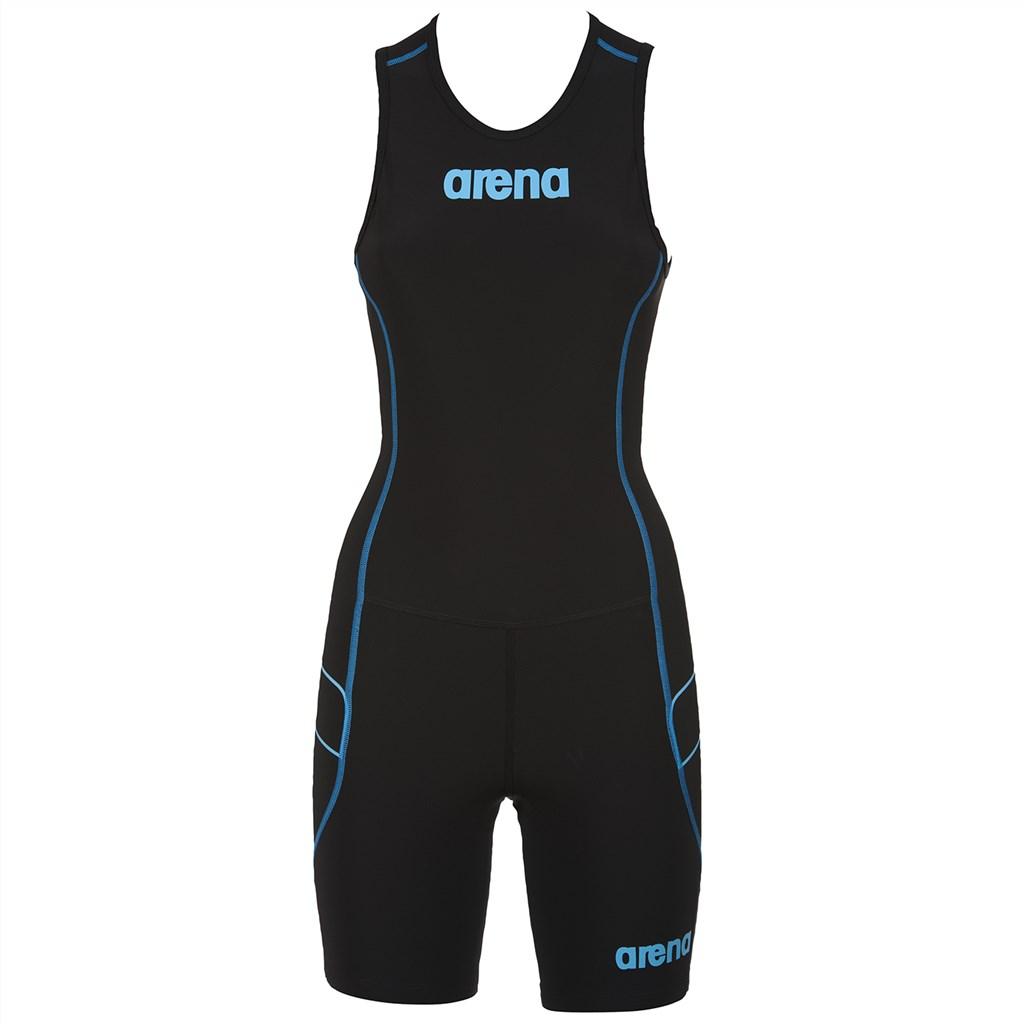 Arena - W Tri Suit ST Rear Zip - black/turquoise