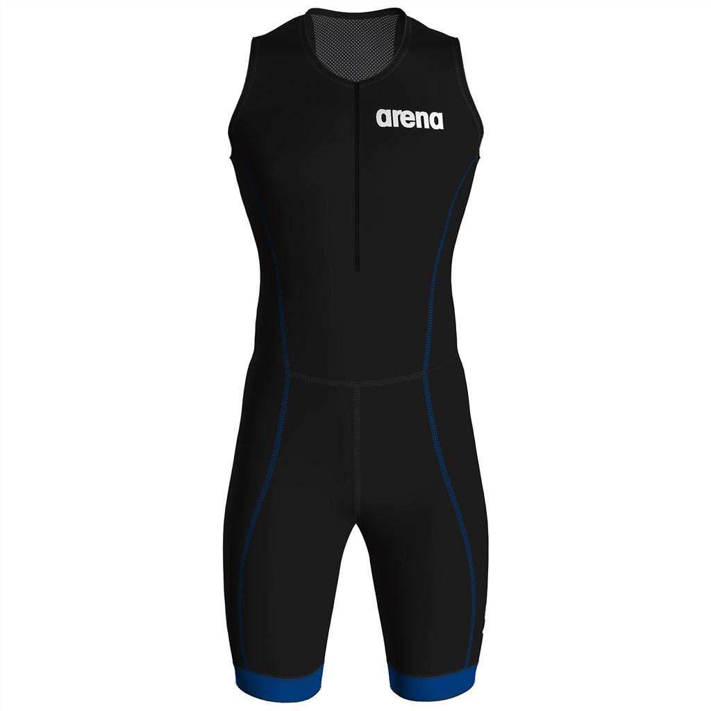 Arena - M Trisuit St 2.0 Front Zip - black/blue
