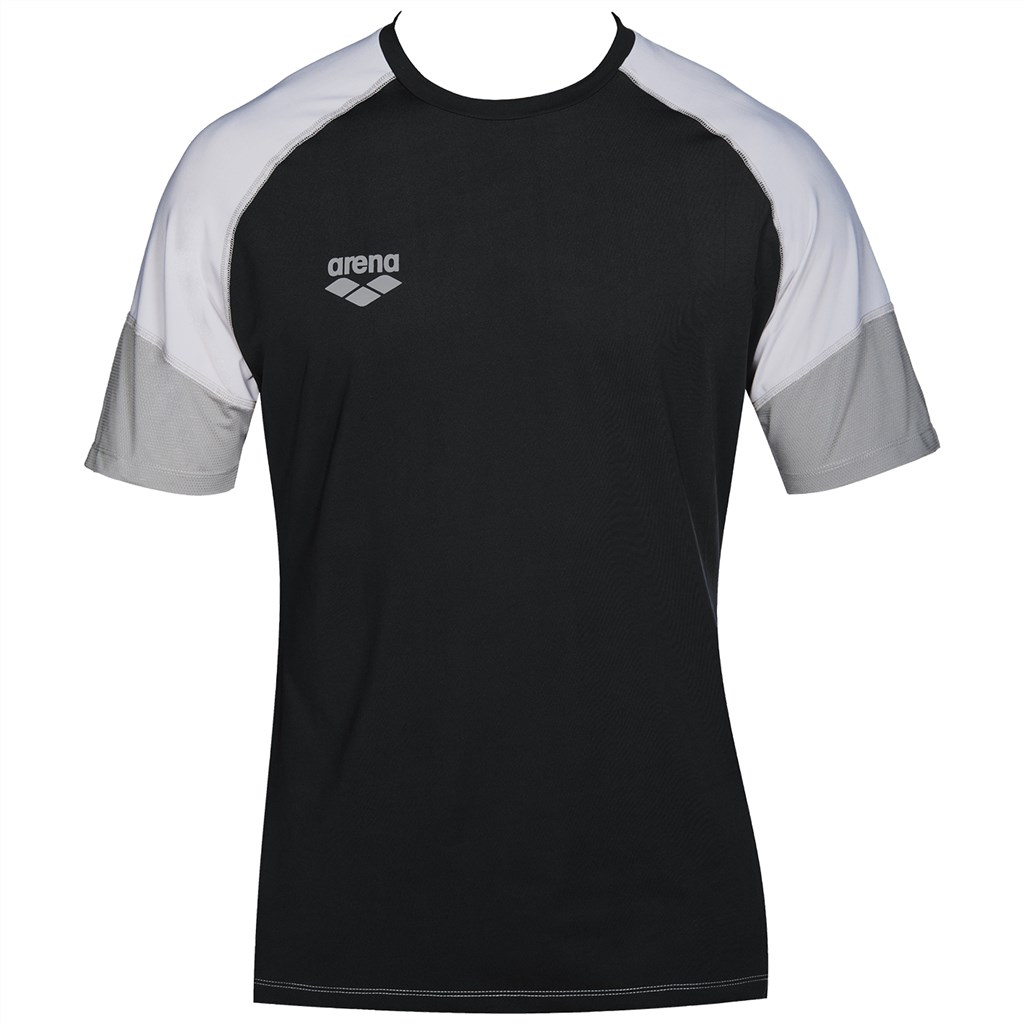 Arena - Tl Tech S/S Raglan Tee - black/grey/ice