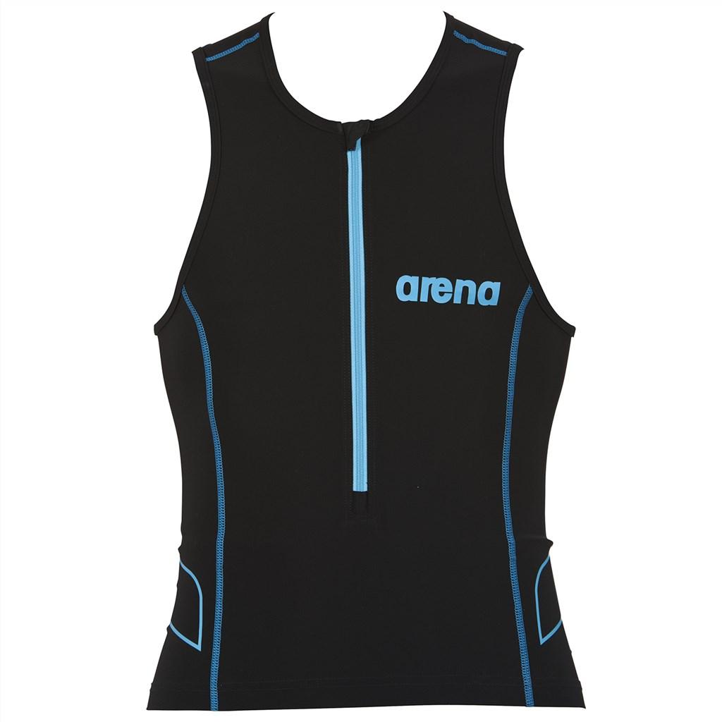 Arena - M Tri Top ST - black/turquoise