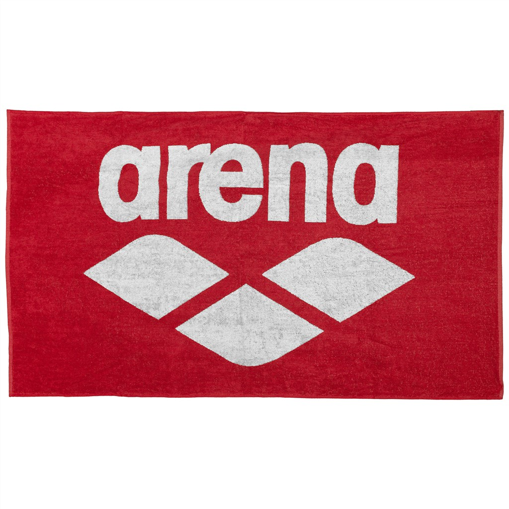 Arena - Pool Soft Towel - red/white