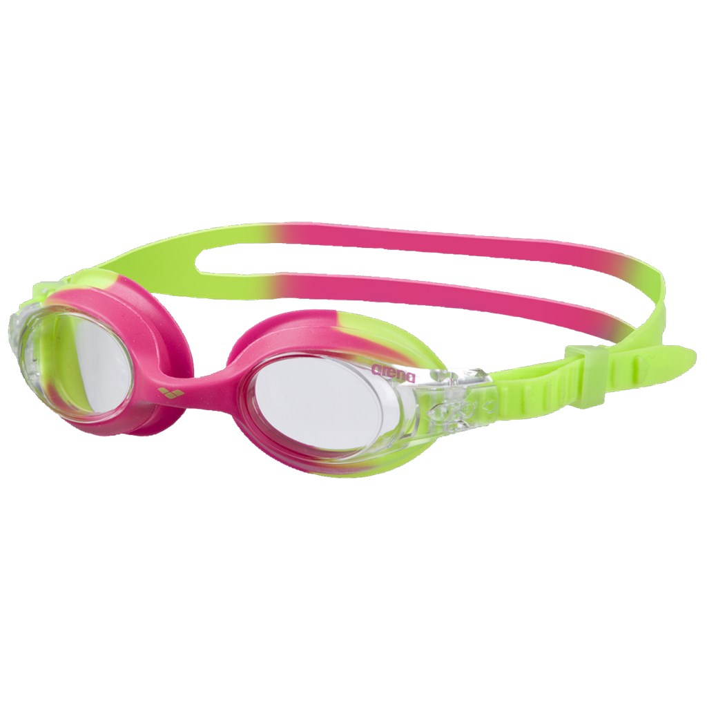 Arena - Kids X-Lite Goggle - green pink/clear