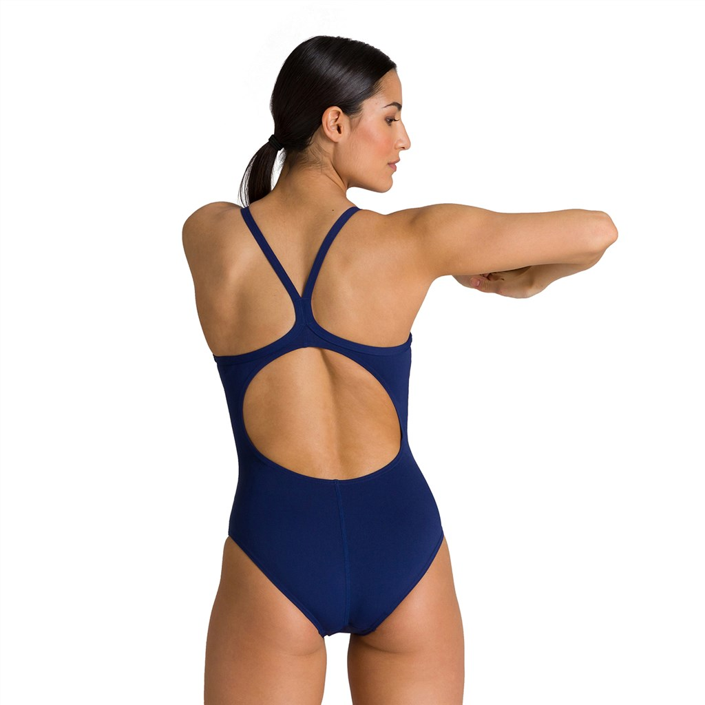 Arena - W Team Painted Stripes Light Drop Back One Piece - navy/multi turquoise