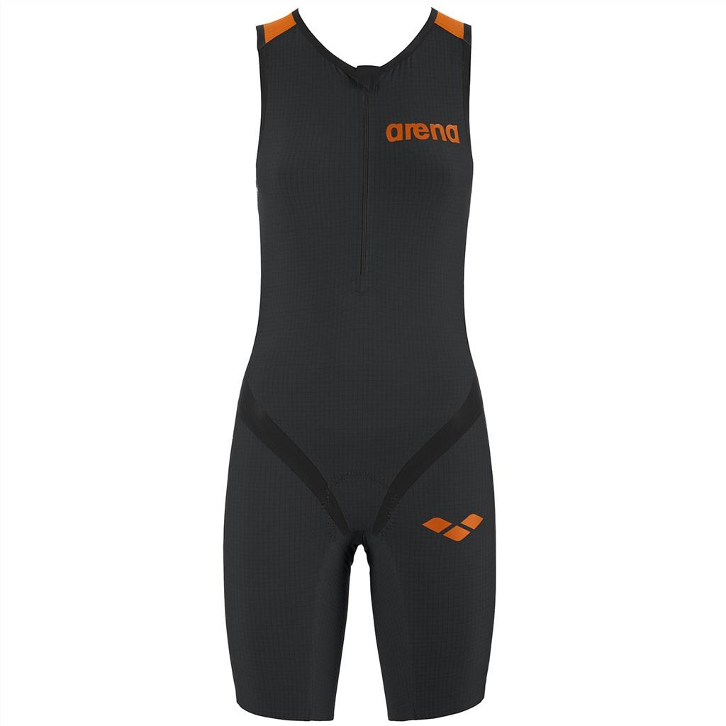 Arena - W Tri Suit Multi Front Zip - dark grey/black