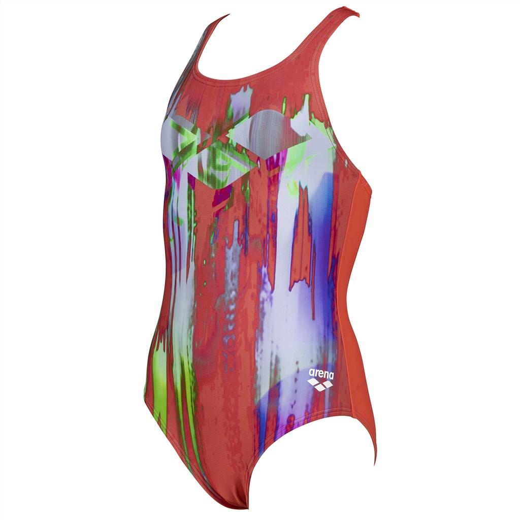 Arena - G Colour Bleeding Jr V Back One Piece - floreale/martinica