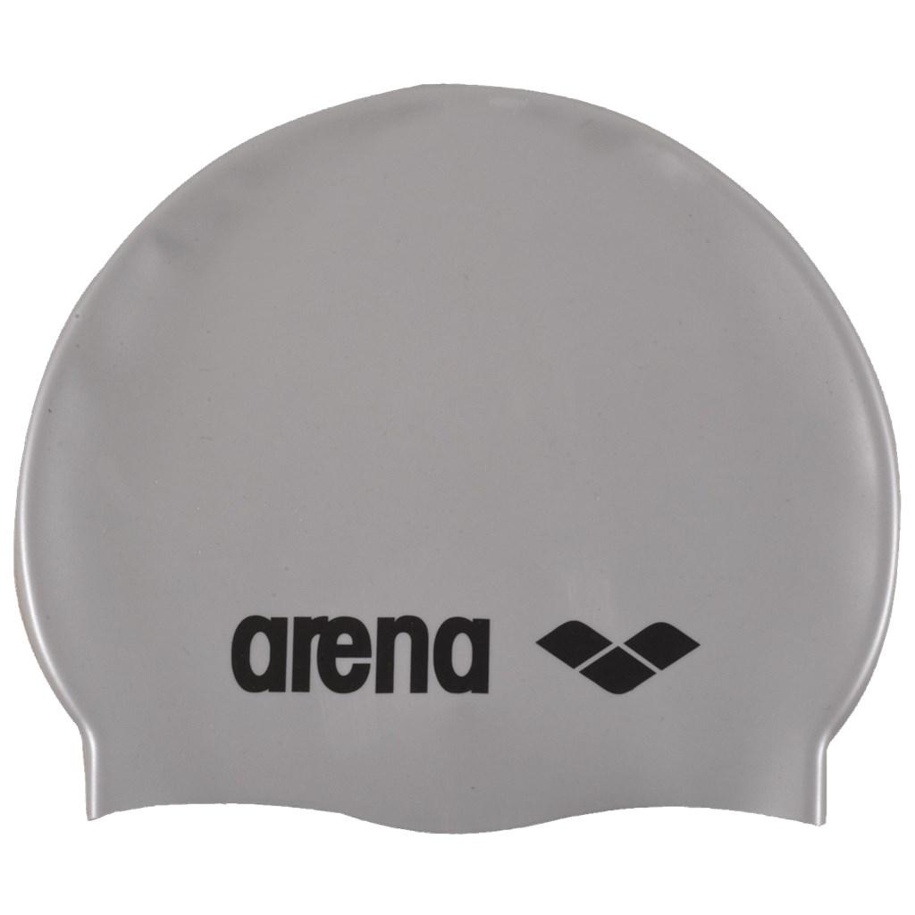 Arena - Classic Silicone Cap - silver/black