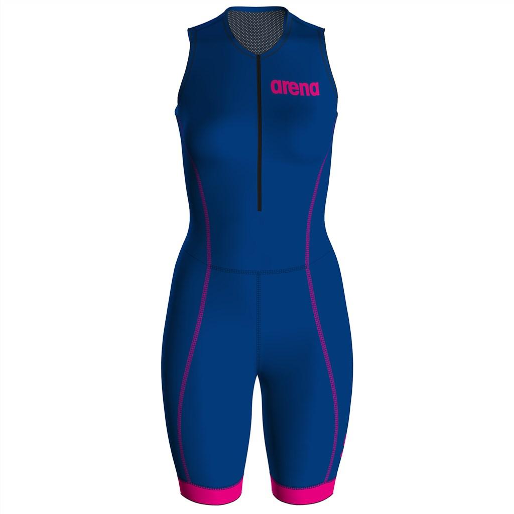 Arena - W Trisuit St 2.0 Front Zip - royal/pink