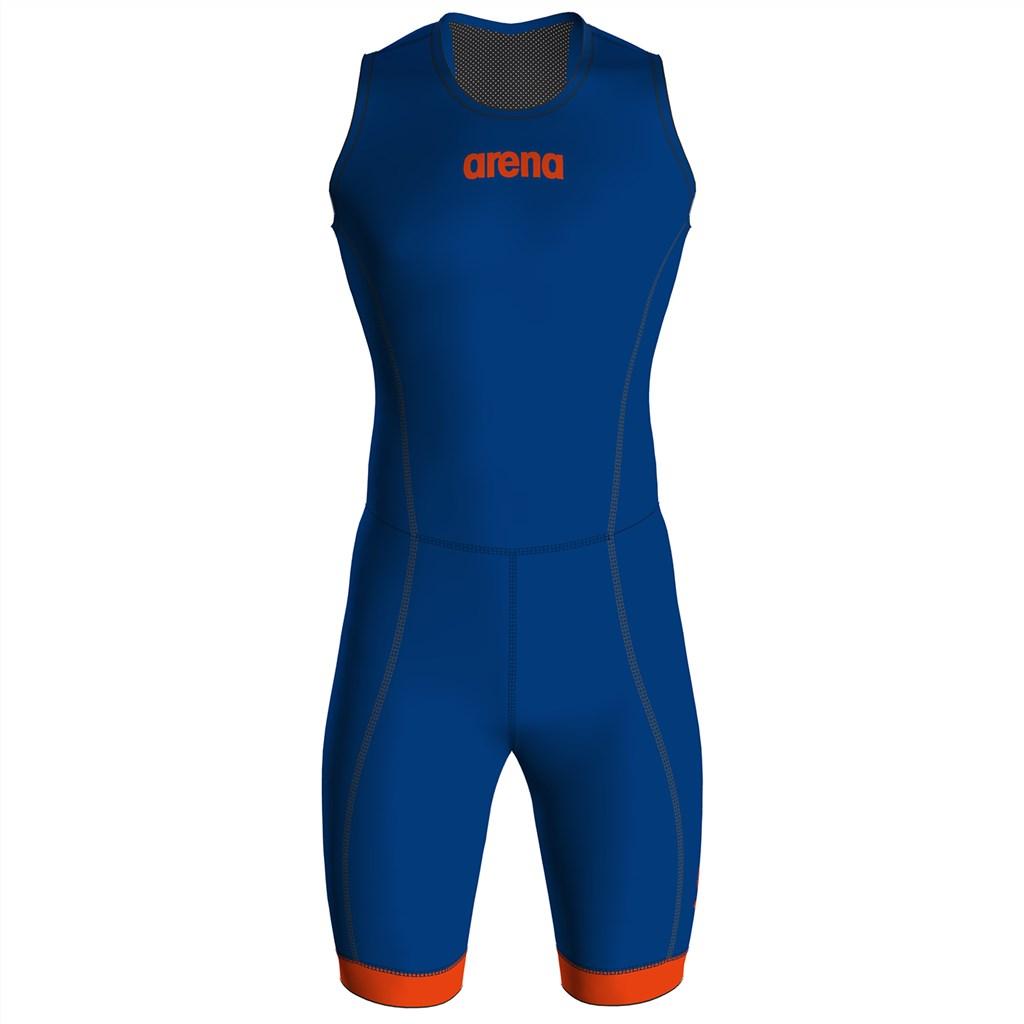 Arena - M Trisuit St 2.0 Rear Zip - royal/orange