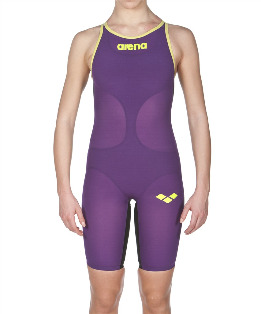 Arena - W Carbon Air FBSL Close - plum/fluo yellow