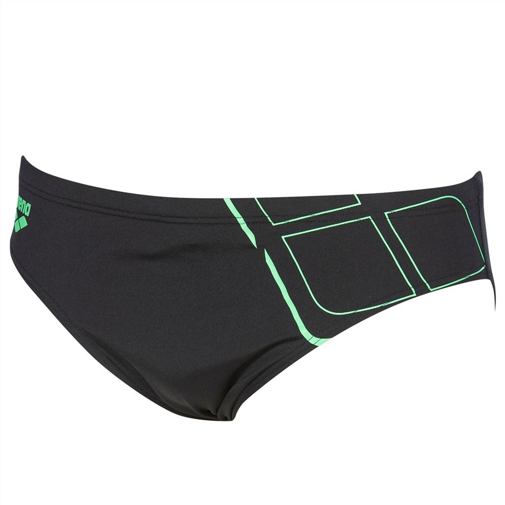 Arena - M Essentials Brief - black/golf green