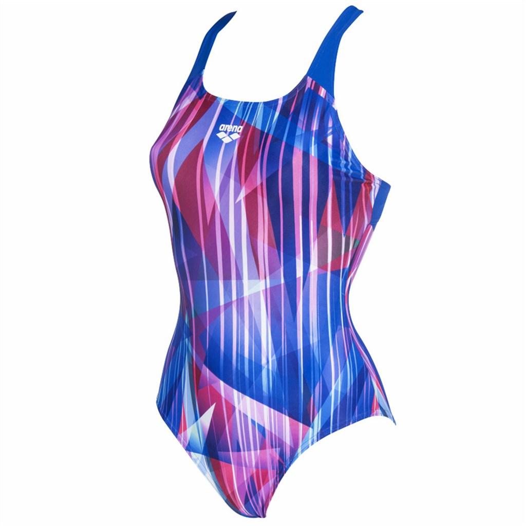 Arena - W Shading Prism Swim Pro Back One Piece Lb - neon blue/multi