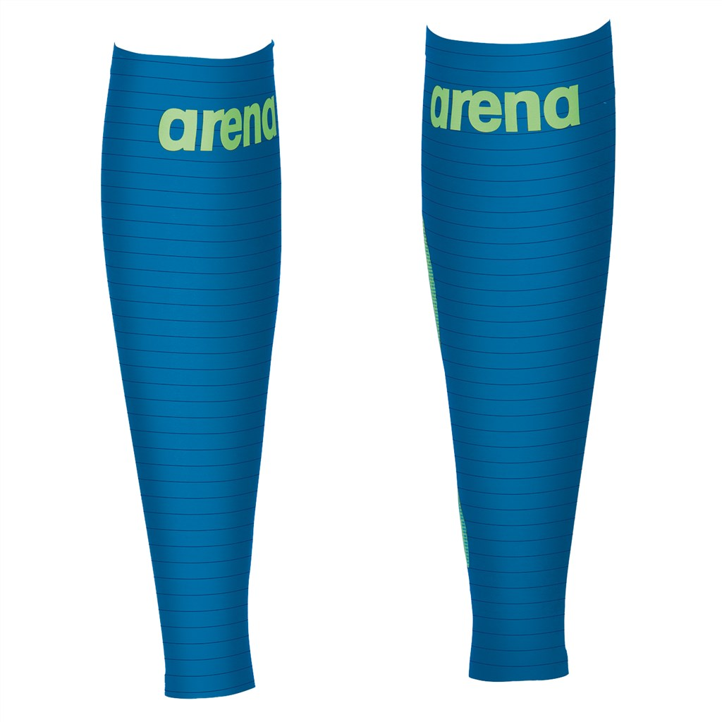 Arena - Unisex Carbon Compression Calf Sleeves - electric blue