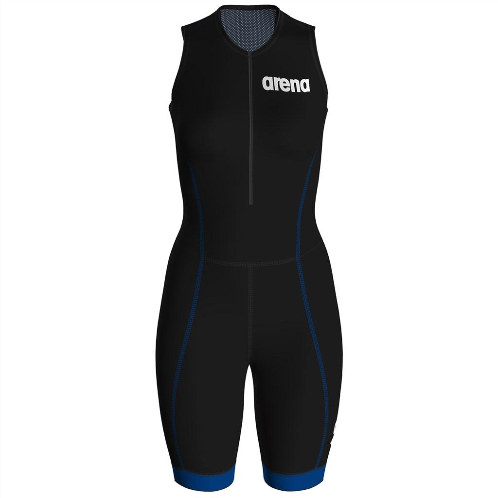 Arena - W Trisuit St 2.0 Front Zip - black/blue