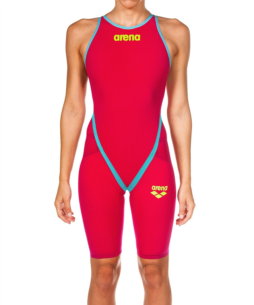 Arena - W Carbon Flex VX FBSL Open - bright red/turquoise