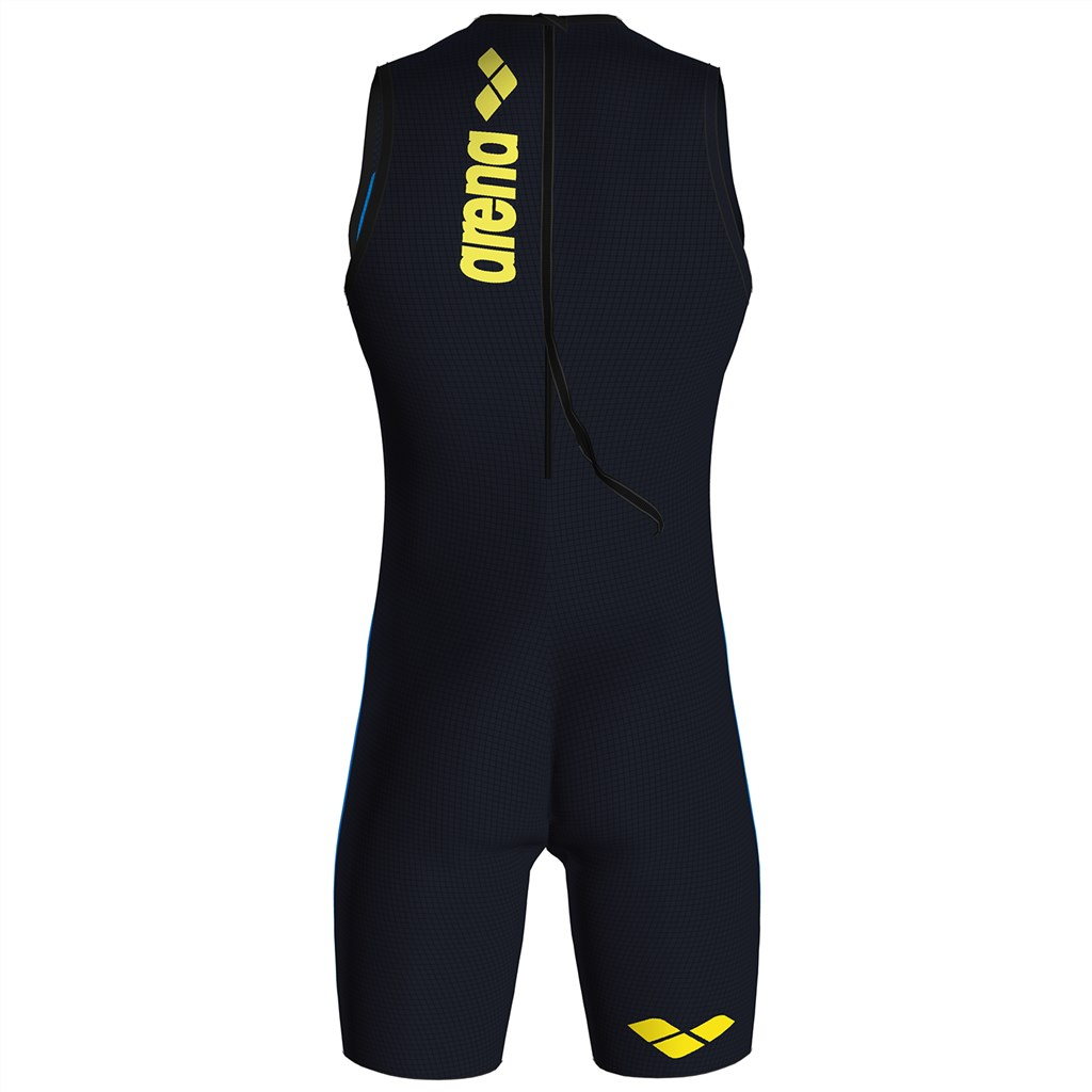 Arena - M Pwskin Carbon Speedsuit Rear Zip - fast blue/grey