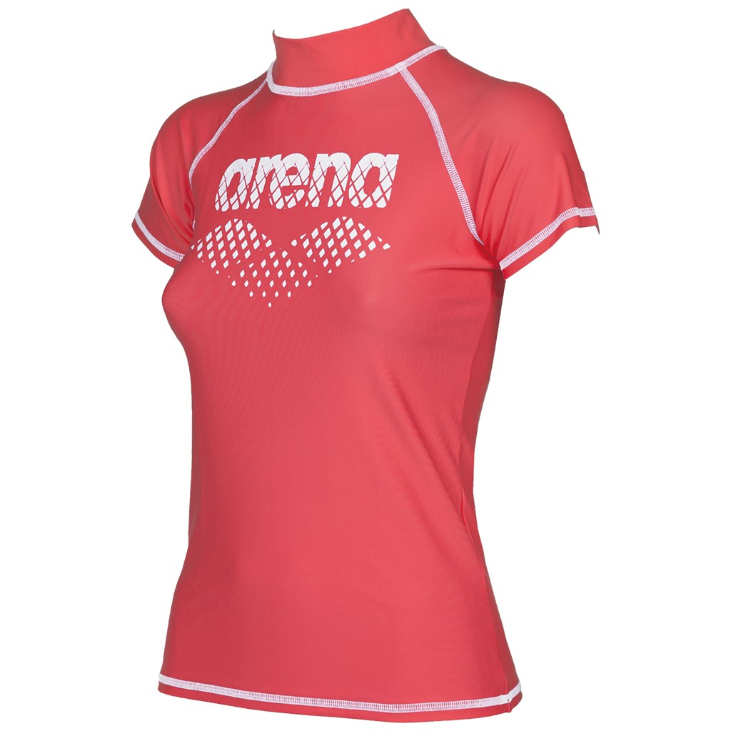 Arena - W Uv T-Shirt - shiny pink/white