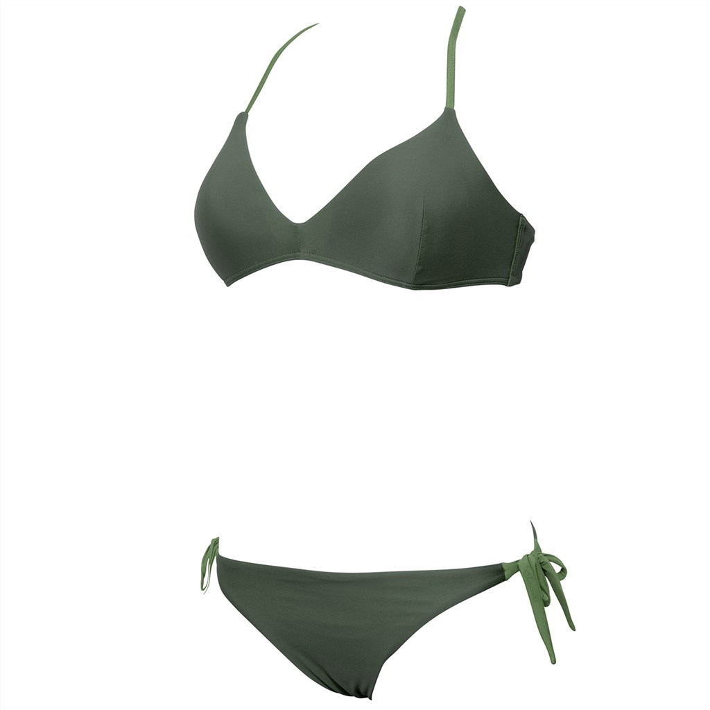 Arena - W Solid Triangle Two Pieces - army/army
