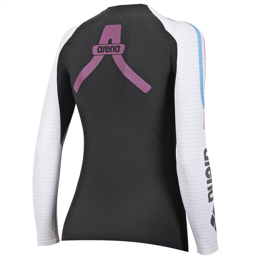 Arena - W Carbon Compression Long Sleeve - deep grey/white