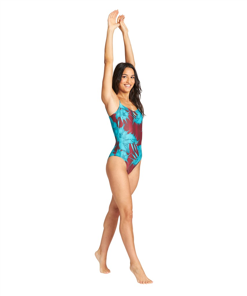 Arena - W Allover U Back One Piece - burned red multi