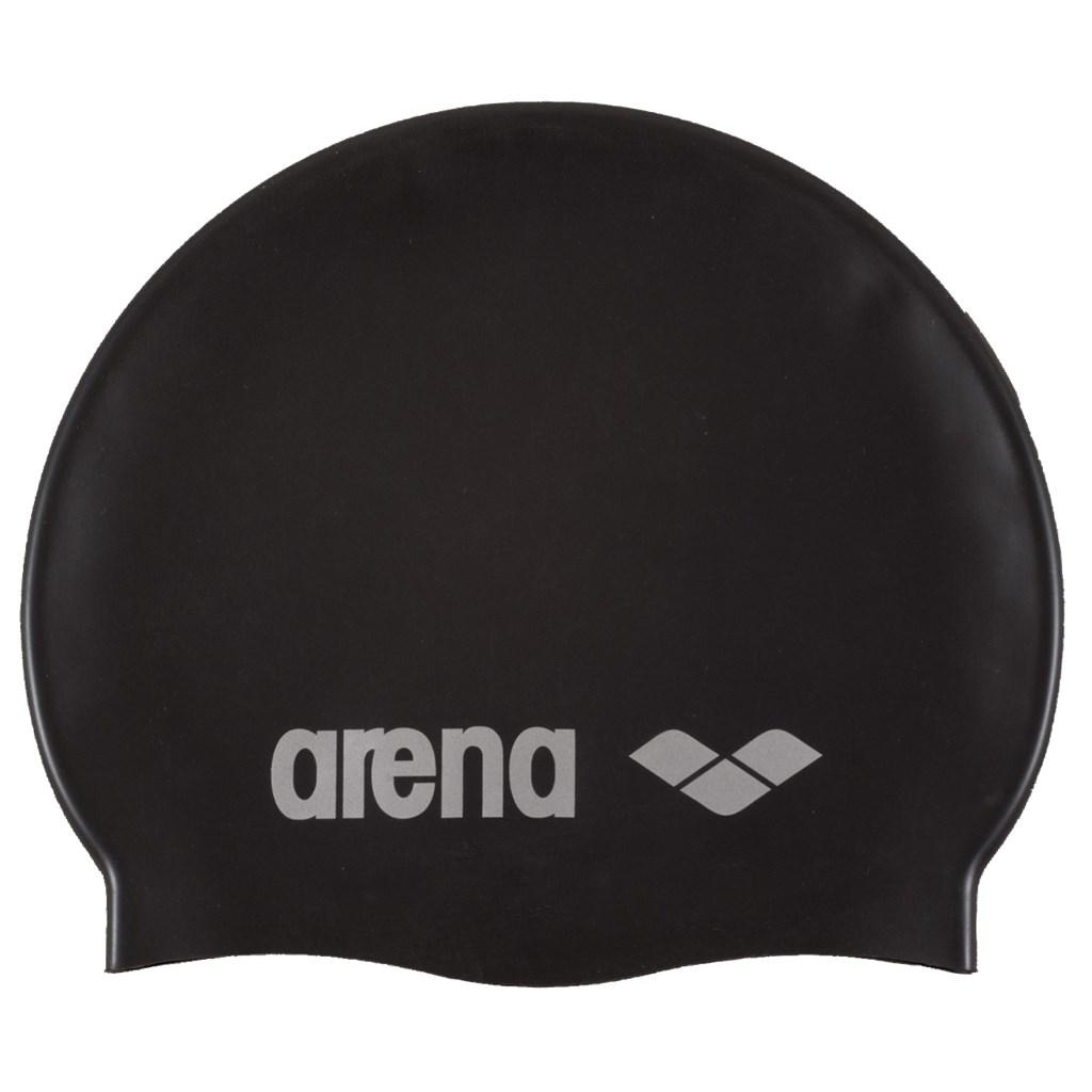 Arena - Classic Silicone Cap - black/silver