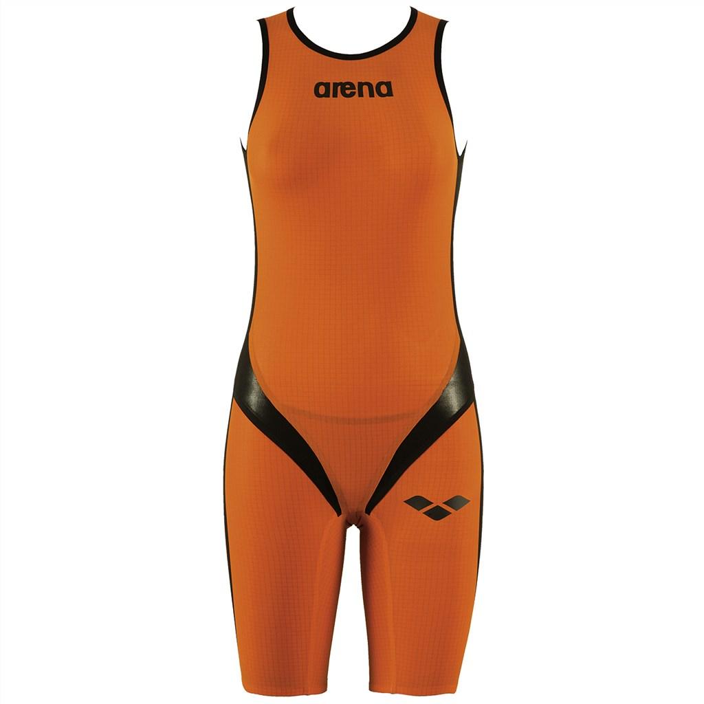 Arena - W Tri Suit Carbon-Pro Back Zipper - fluo orange/black