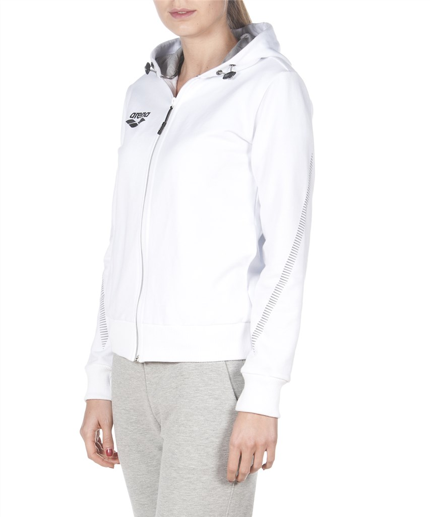 Arena - W Tl Hooded Jacket - white