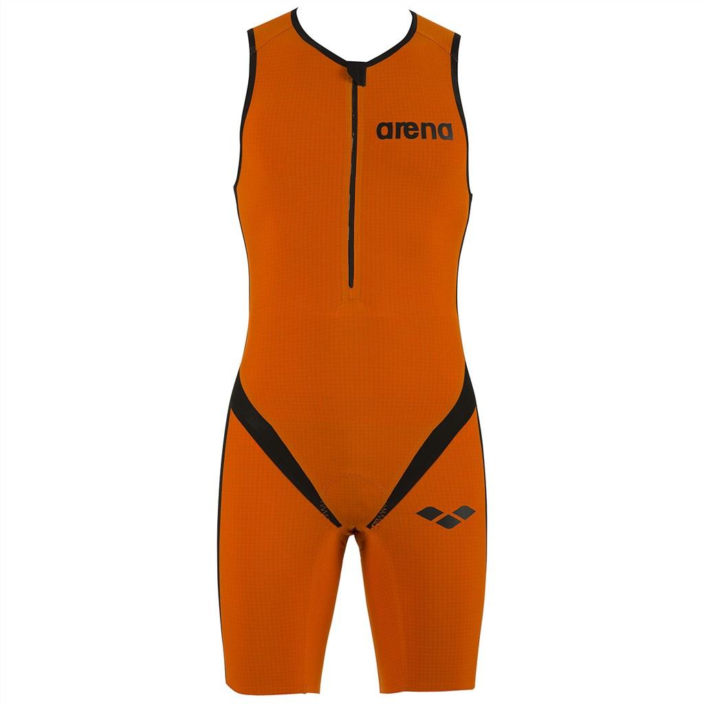 Arena - M Tri Suit Multi Front Zip - orange/black