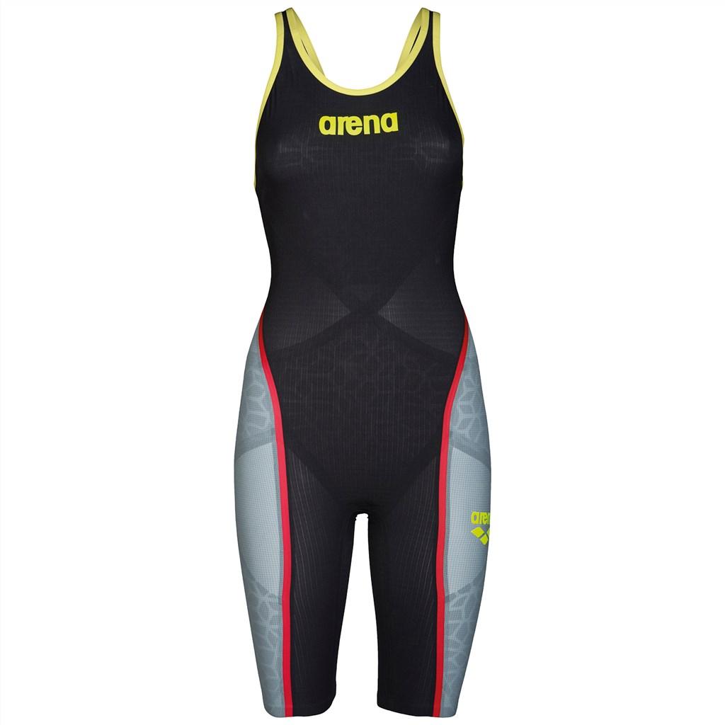 Arena - W Carbon Ultra FBSL Open - dark grey/fluo yellow