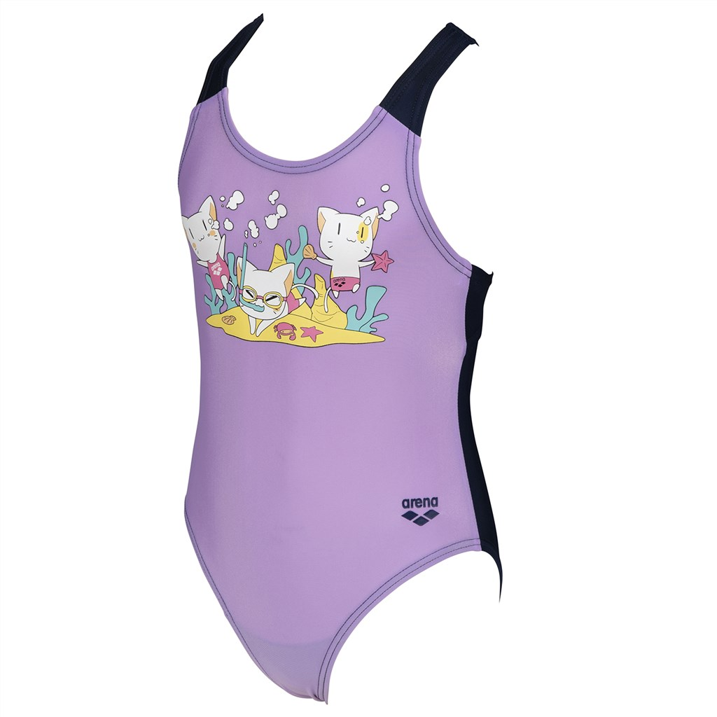 Arena - Kids Friends Girl One Piece - lilac/navy