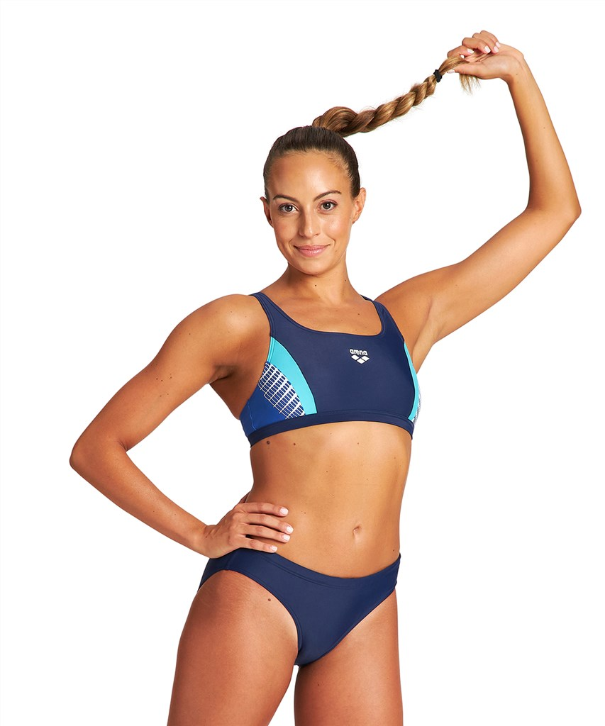 Arena - W Threefold Two Pieces - navy/royal/martinica