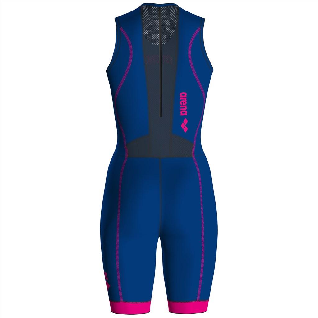 Arena - W Trisuit St 2.0 Rear Zip - royal/pink