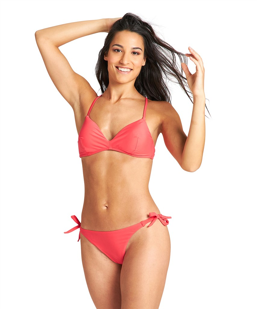 Arena - W Solid Triangle Two Pieces - hibiscus/hibiscus