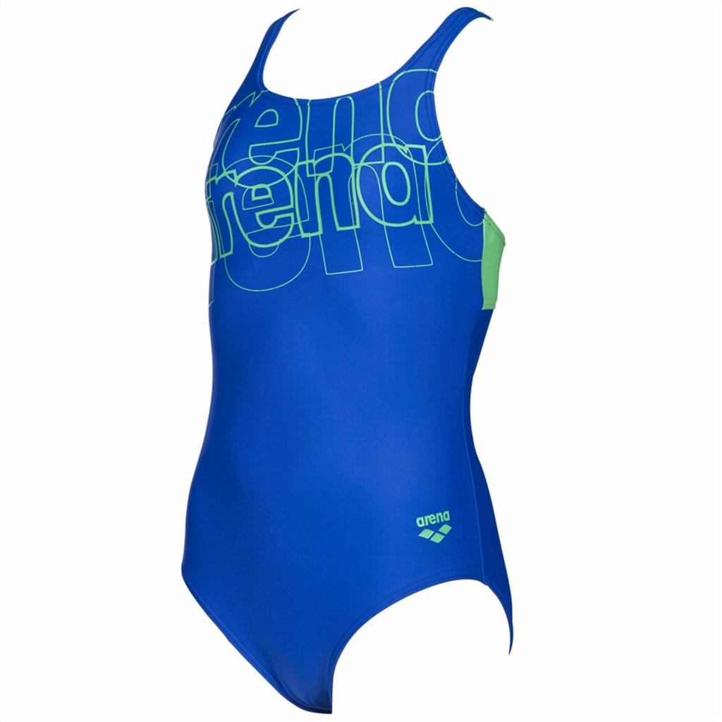 Arena - G Spotlight Jr Swim Pro Back One Piece L - neon blue/golf green