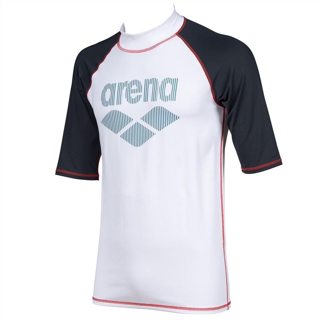 Arena - M Rash Vest S/S - white/ash grey