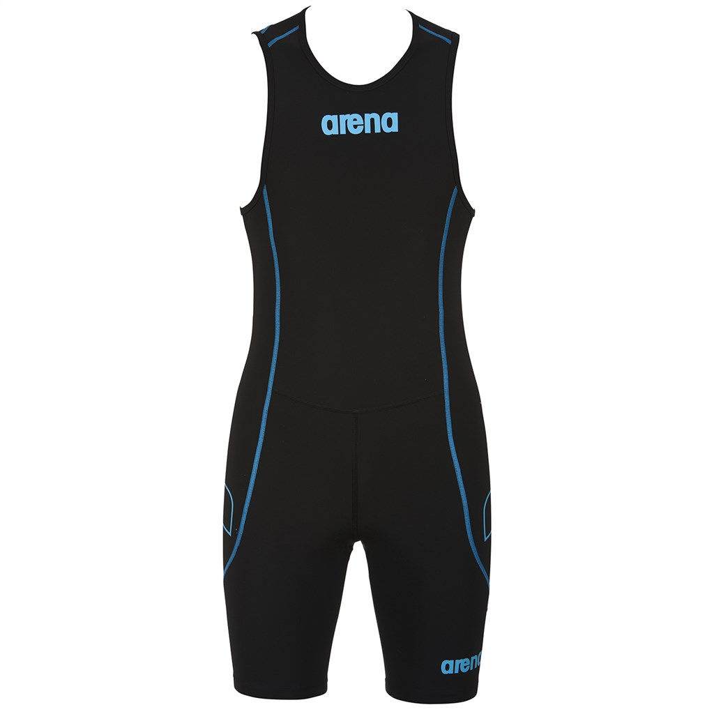 Arena - M Tri Suit ST Rear Zip - black/turquoise