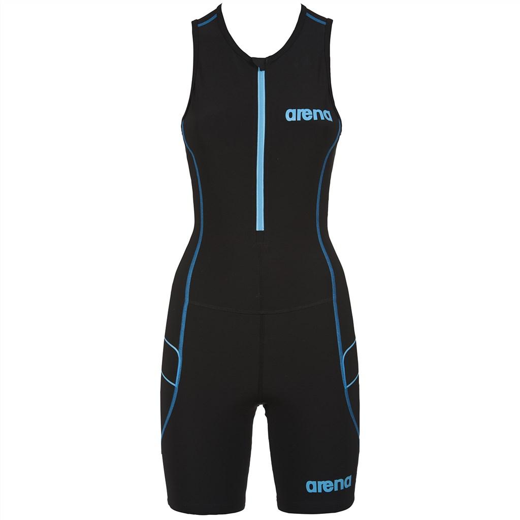 Arena - W Tri Suit ST Front Zip - black/turquoise