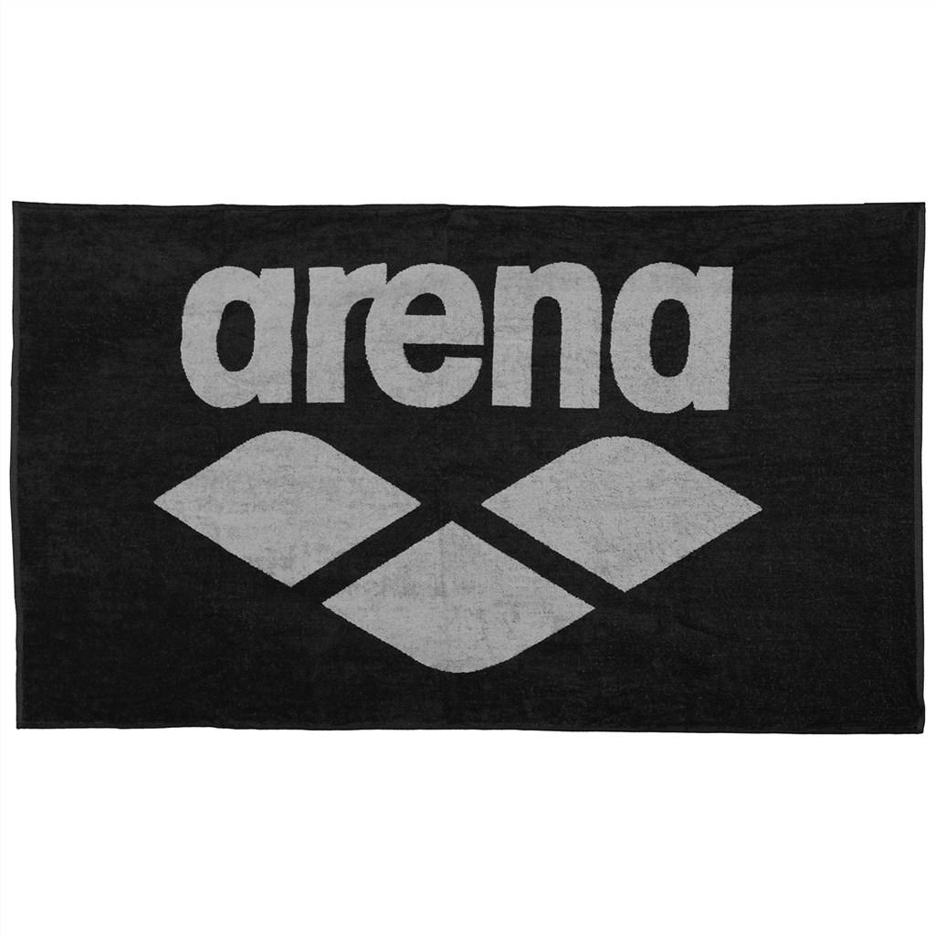Arena - Pool Soft Towel - black/grey