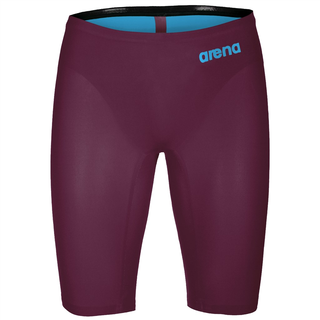 Arena - M Pwskin R-Evo One Jammer - red wine/turquoise