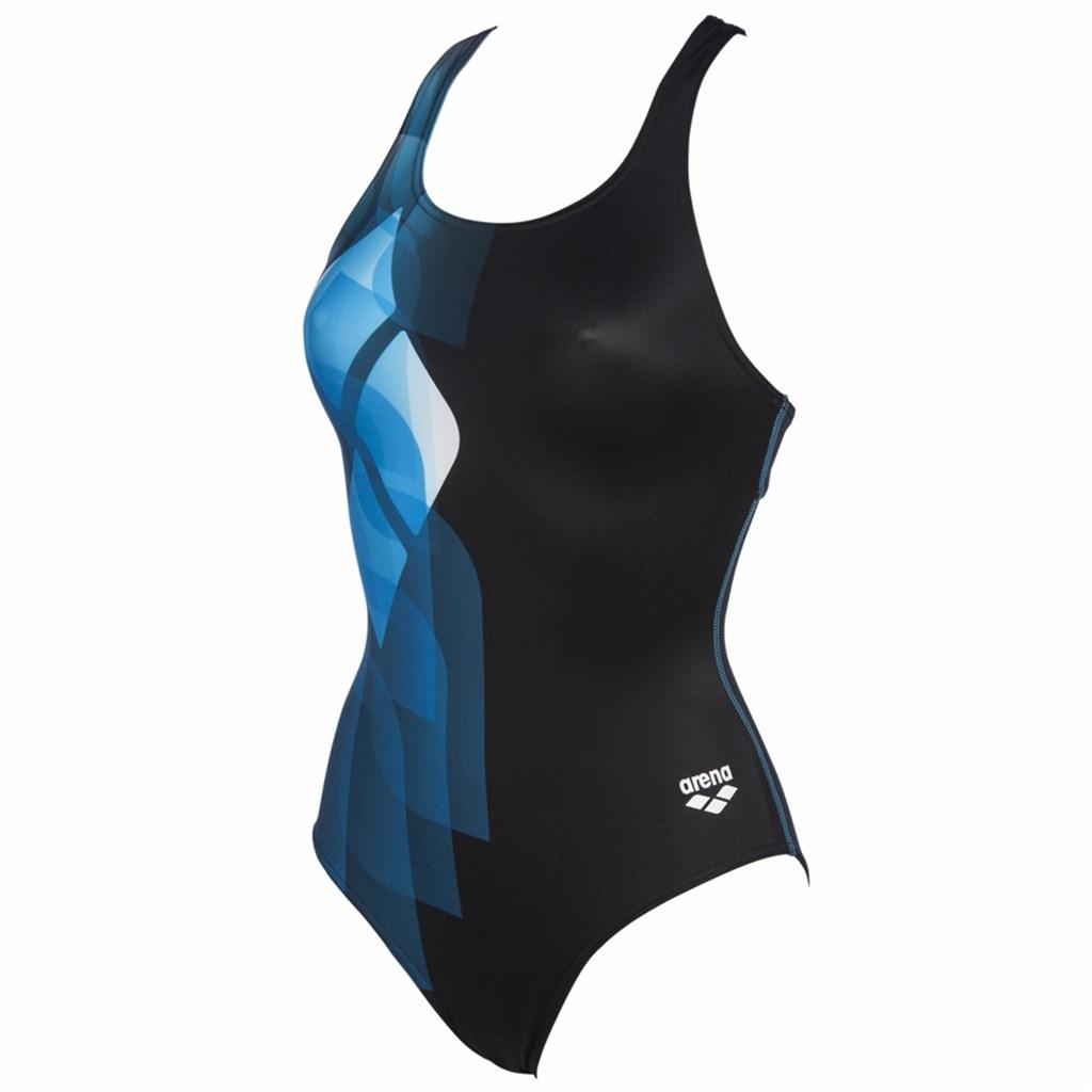 Arena - W Mirrors Swim Pro Back One Piece Lb - black/turquoise