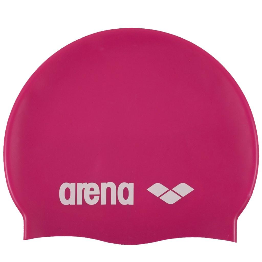 Arena - Classic Silicone Cap - fuchsia/white